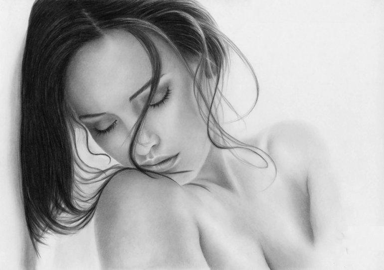 Drawing pencil girl naked, jenna jameson lesbian orgy