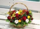 Корзина из живых цветов своими руками мастер класс 54