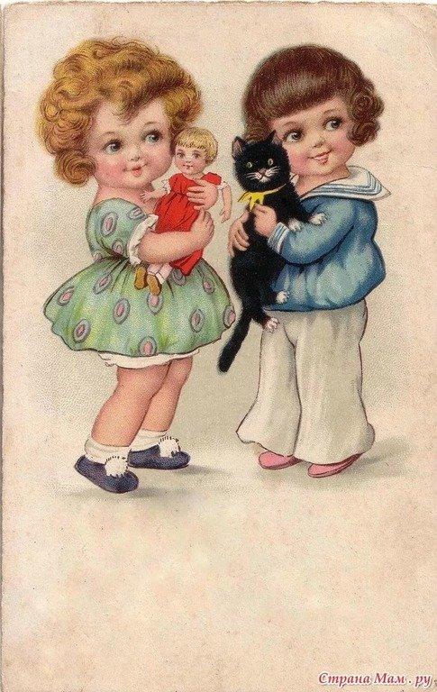 Фото старых открыток детей