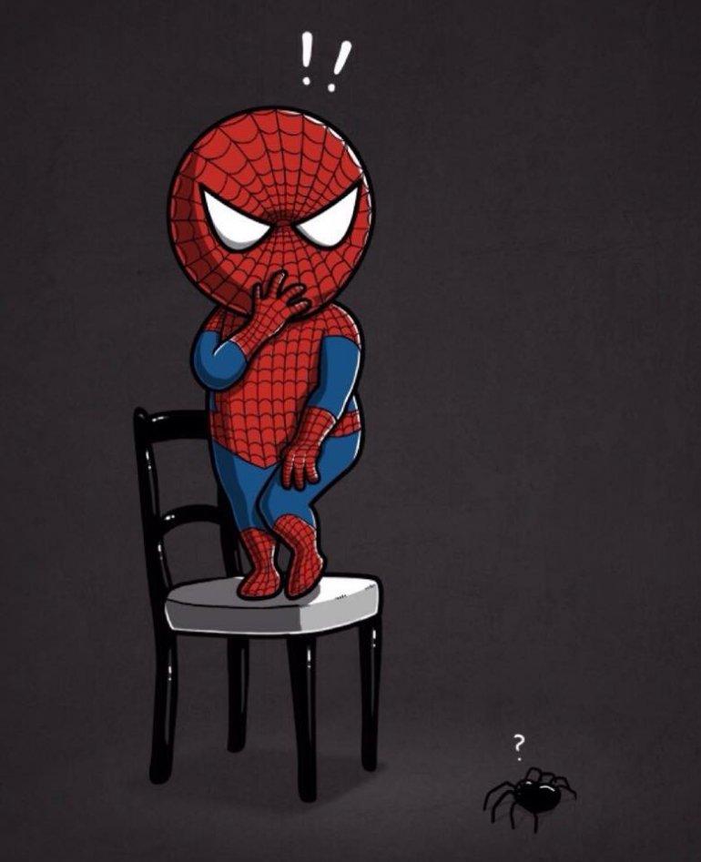 Поздравления, прикольные рисунки человека паука