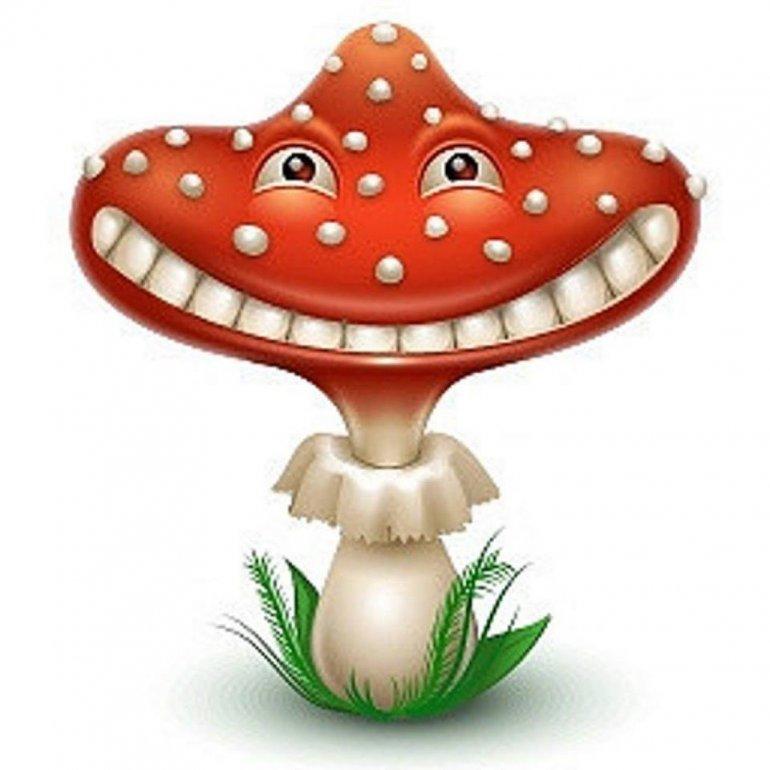 Открытка стихами, гриб смешной картинка