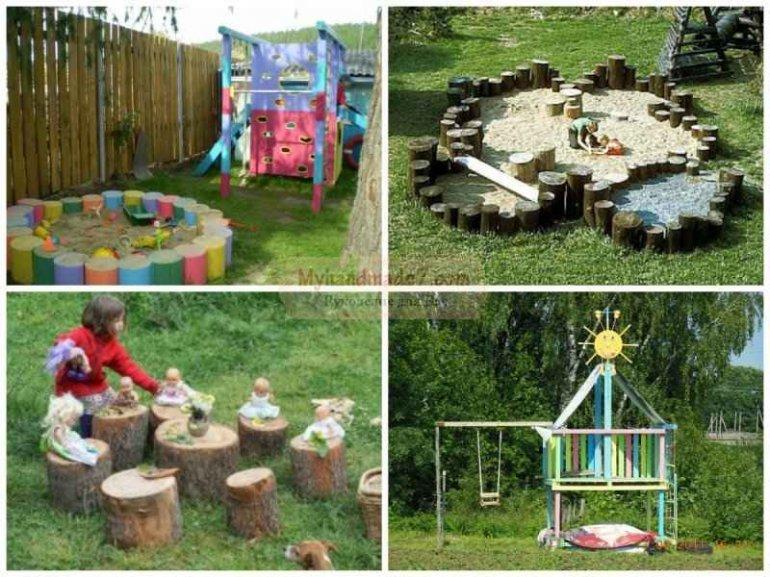 Идеи детских площадок для дачи своими руками 314