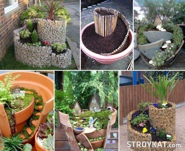 Идеи для сада из подручных